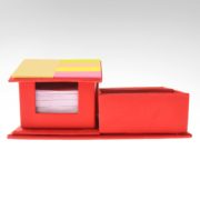 DSK08243 House Shaped Memo Pad with Post It and Pen Holder