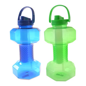 DRW08312 Dumbbell Water Bottle with Straw