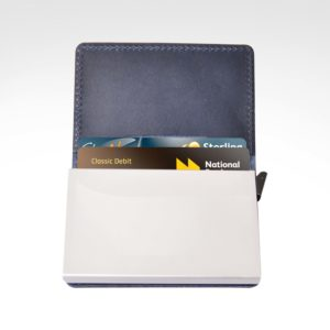 BAG05864 Front Button Card Holder with RFID Blocking
