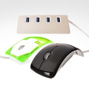 PTX08385 USB3.0 Hub + Foldable MouseTransaprent Mouse