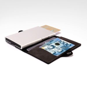 side button card holder with rfid