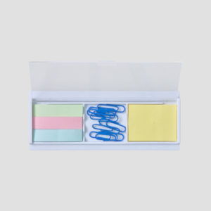 DSK08607 Post-it, Ruler & Clips in Plastic Case