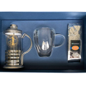 PTX09226 Coffee Press, Double Mug and Small Pack of Coffee Set
