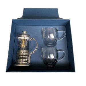 PTX09229 - Coffee Press and Double Wall Mug Set